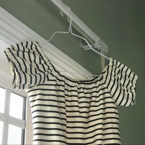 Madewell Melody Striped Off The Shoulder Top